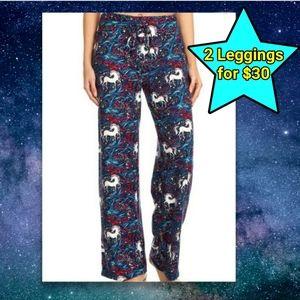 Unicorn Lounge Pants Leggings Pajamas Star Rainbow